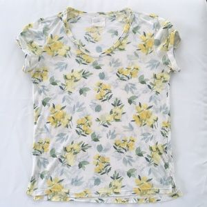 Vintage Floral Yellow Soft Tee